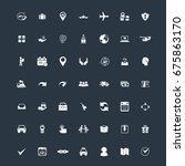 logistics and delivery icons set | Shutterstock .eps vector #675863170