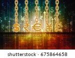3d rendering global currencies | Shutterstock . vector #675864658