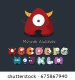 monster cartoon alphabet | Shutterstock .eps vector #675867940