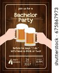 bachelor party invitation card | Shutterstock .eps vector #675867973