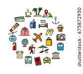 vector travel  vacation and... | Shutterstock .eps vector #675872950