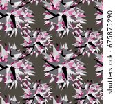pink  grey and black color... | Shutterstock .eps vector #675875290