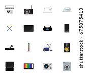 set of 16 editable tech icons....