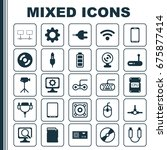 computer icons set. collection... | Shutterstock .eps vector #675877414