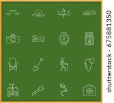 set of 16 editable trip icons....