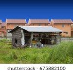 Lone Nipa Hut In Contrast To...