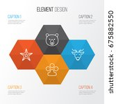 zoology icons set. collection...   Shutterstock .eps vector #675882550
