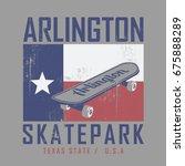 skate board sport typography ... | Shutterstock .eps vector #675888289