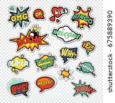 pop art comic speech bubbles... | Shutterstock .eps vector #675889390