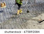 construction worker prepares...   Shutterstock . vector #675892084