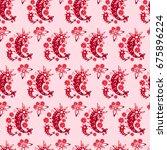 seamless pattern for bed linen  ...   Shutterstock .eps vector #675896224