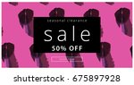 sale banner. creative universal ... | Shutterstock .eps vector #675897928