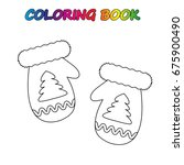 mittens   coloring book.  game... | Shutterstock .eps vector #675900490