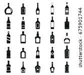 alcohol simple black silhouette ... | Shutterstock .eps vector #675901744