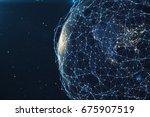 3d rendering network and data...   Shutterstock . vector #675907519