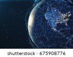 3d rendering network and data...   Shutterstock . vector #675908776