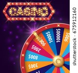 spinning fortune wheel ... | Shutterstock .eps vector #675912160