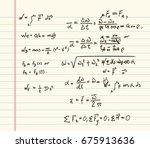 mathematics formula doodle | Shutterstock .eps vector #675913636