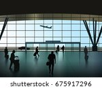 vector airport hall with... | Shutterstock .eps vector #675917296