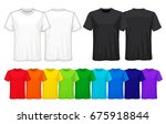 set of templates colored t... | Shutterstock .eps vector #675918844