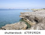 The Eroded Coastline View With...