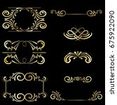 gold frame vintage element... | Shutterstock . vector #675922090