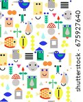 seamless fun pattern with face  ...
