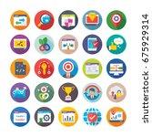 seo and digital marketing... | Shutterstock .eps vector #675929314