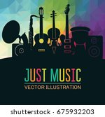 colorful music background.... | Shutterstock .eps vector #675932203