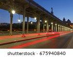 bridge bir hakeim in paris at... | Shutterstock . vector #675940840