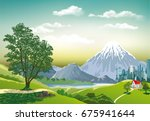 countryside in vector form....   Shutterstock .eps vector #675941644
