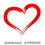 vector human heart outlined by... | Shutterstock .eps vector #675945250