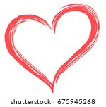heart shape vector  sketch... | Shutterstock .eps vector #675945268