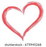 heart shape vector  love... | Shutterstock .eps vector #675945268
