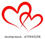 heart love vector. valentine... | Shutterstock .eps vector #675945298