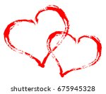 heart love vector. valentine... | Shutterstock .eps vector #675945328