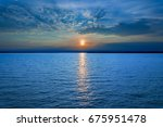 sunset of blue sea and sky...   Shutterstock . vector #675951478