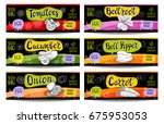 set of colorful labels in...