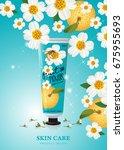 hand cream  skincare  beauty...   Shutterstock .eps vector #675955693