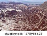 death valley located in atacama ... | Shutterstock . vector #675956623