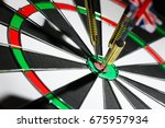 success hitting target  aim... | Shutterstock . vector #675957934