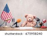 retro teddy bear toy ...   Shutterstock . vector #675958240