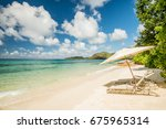 scenic view on perfect tropical ... | Shutterstock . vector #675965314