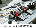 control room of vessel and... | Shutterstock . vector #675971344