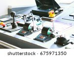 control room of vessel and... | Shutterstock . vector #675971350