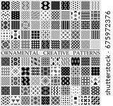 digital raster black and white...   Shutterstock . vector #675972376