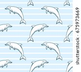 Seamless Sea Pattern Made From...