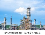 close up industrial zone. plant ... | Shutterstock . vector #675977818