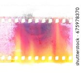 red and yellow grunge film... | Shutterstock . vector #675978370