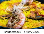 prawn with rice   closeup of... | Shutterstock . vector #675979228